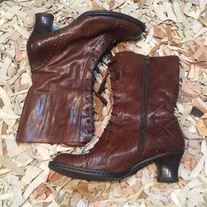b4f185ece23022 Born Shoes - Born brown Victorian lace steampunk boots 👢 9